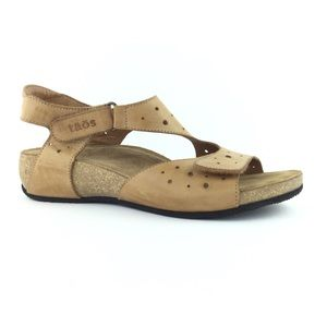 Taos Footwear Swiss Rita laser cut leather sandal